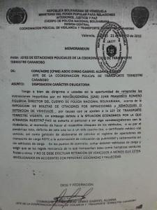 documento de la multa