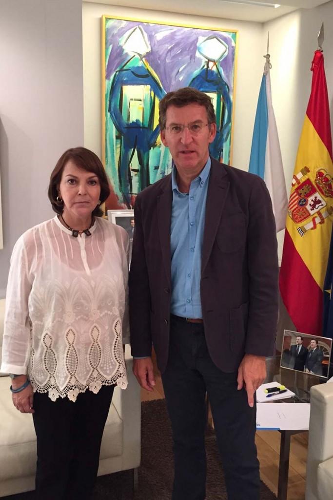 Mitzy de Ledezma y Pte. de la Junta de Galicia, Alberto Núñez Feijóo-1