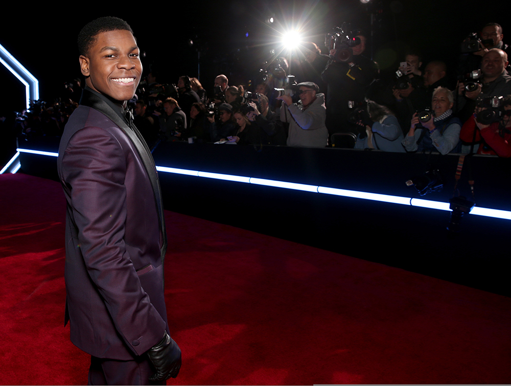 HOLLYWOOD, CA - DECEMBER 14: Actor John Boyega attends the World Premiere of ?Star Wars: The Force Awakens? at the Dolby, El Capitan, and TCL Theatres on December 14, 2015 in Hollywood, California. Todd Williamson/Getty Images/AFP